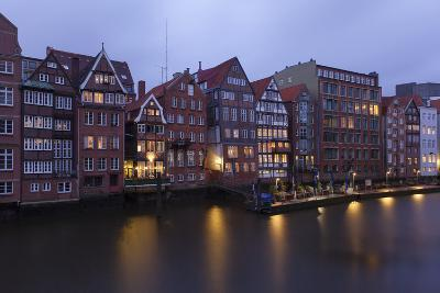 Hamburg, Historical Deichstra§e, in the Evening-Catharina Lux-Photographic Print