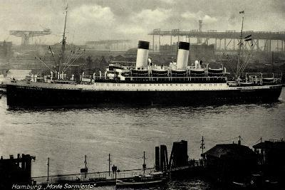 Hamburg, HSDG, Dampfschiff Monte Sarmiento, Hafen--Giclee Print