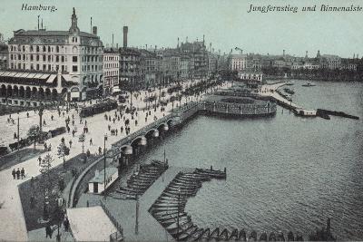 Hamburg - Jungfernstieg and Binnenalster--Photographic Print