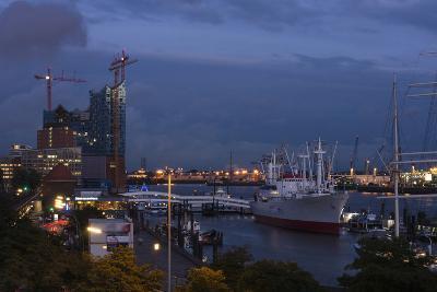 Hamburg, Landing Stages, Dusk-Catharina Lux-Photographic Print