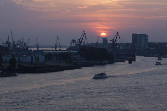 Hamburg, Norderelbe, Sunset-Catharina Lux-Photographic Print
