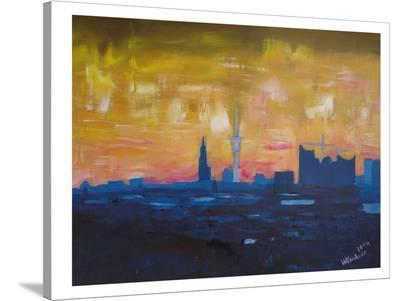 Hamburg Skyline Dusk 2-M Bleichner-Stretched Canvas Print