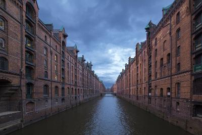 Hamburg, Speicherstadt, Brooksfleet, Evening Mood-Catharina Lux-Photographic Print