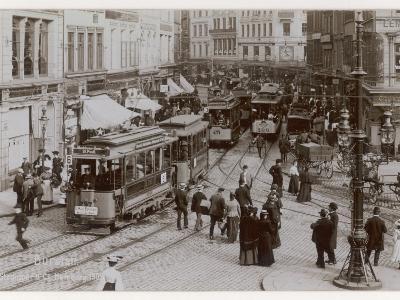Hamburg Street Scene--Photographic Print