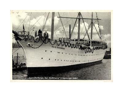 Hamburger Hafen, Segelschiff, Hein Godenwind--Giclee Print