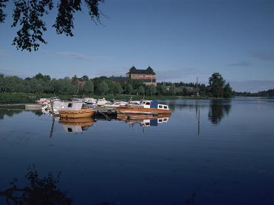 Hame Castle and Lake Vanajavesi, Hameenlinna, Finland, Scandinavia-Jenny Pate-Photographic Print