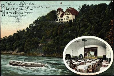 Hameln, Hotel U. Pension Felsenkeller, Saal, Dampfer--Giclee Print
