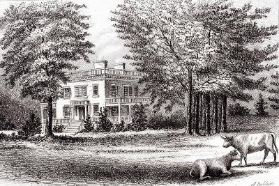 Hamilton Grange, from 'Old New York, Volume I', 1802-Samuel Hollyer-Giclee Print