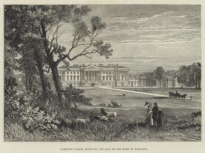 Hamilton Palace, Scotland, the Seat of the Duke of Hamilton-James Burrell Smith-Giclee Print