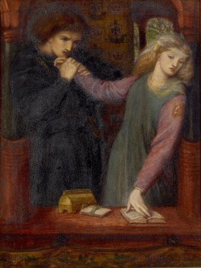 Hamlet and Ophelia, 1866-Dante Gabriel Charles Rossetti-Giclee Print