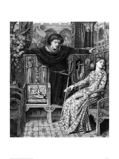 Hamlet and Ophelia, c. 1858-Dante Gabriel Rossetti-Giclee Print