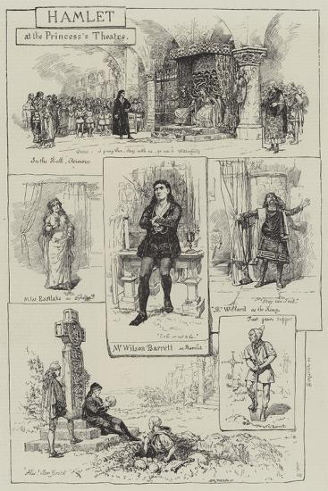 Hamlet at the Princess's Theatre-Amedee Forestier-Giclee Print