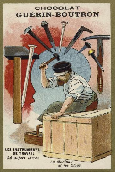 Hammer and Nails--Giclee Print