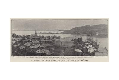 Hammerfest, the Most Northerly Town in Europe--Giclee Print