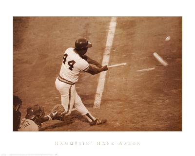 Hammerin' Hank Aaron--Art Print