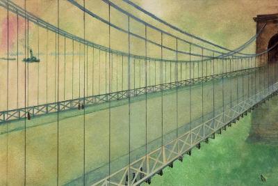 Hammersmith Bridge after the Boat Race-George Adamson-Giclee Print