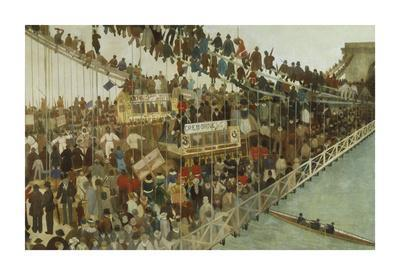 Hammersmith Bridge on Boat Race Day, 1862-Walter Greaves-Premium Giclee Print