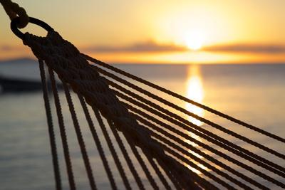 Hammock and Beach at Sunset-Frank Fell-Photographic Print