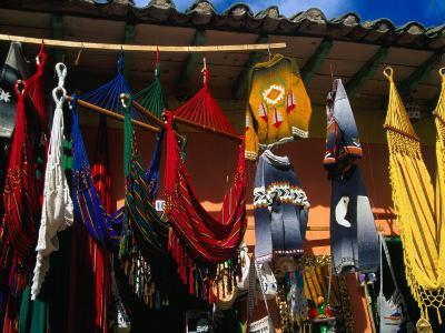 Hammocks and Clothing in Handicraft Shop, Raquira, Boyaca, Colombia-Krzysztof Dydynski-Photographic Print