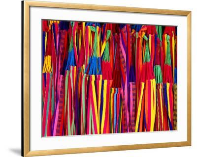 Hammocks Displayed for Sale at Market, Barranquilla, Colombia-Krzysztof Dydynski-Framed Photographic Print