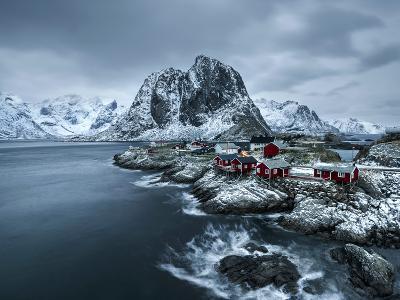 Hamnoy - Lofoten Islands, Norway Coastal Rocks and Mountains.-ClickAlps-Photographic Print