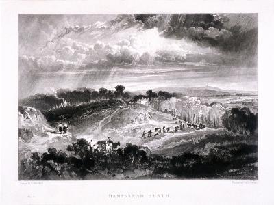 Hampstead Heath, Hampstead, London, 1832-David Lucas-Giclee Print