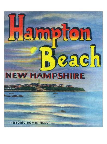 Hampton Beach, New Hampshire, View of Historic Boars Head-Lantern Press-Art Print