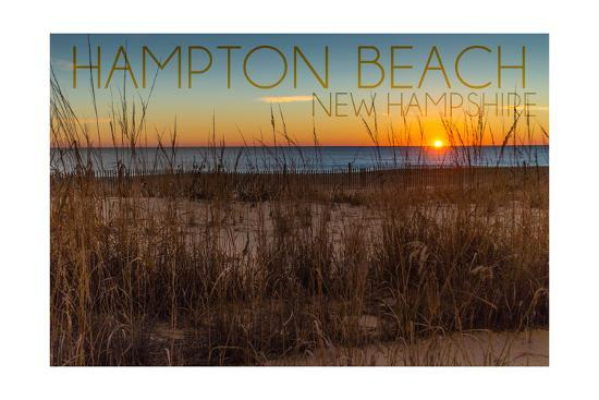 Hampton Beach, New Hampshire-Lantern Press-Art Print