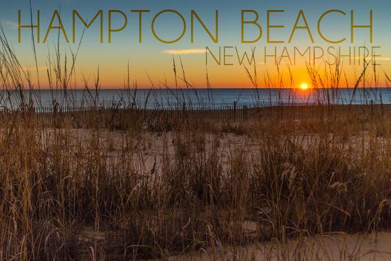 Hampton Beach, New Hampshire-Lantern Press-Wall Mural