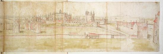 Hampton Court Palace from the North, C.1544-Anthonis van den Wyngaerde-Giclee Print