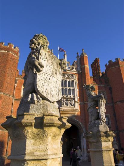 Hampton Court, Surrey, England, UK, Europe-Charles Bowman-Photographic Print
