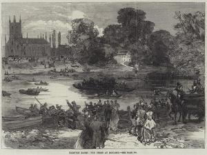 Hampton Races, the Ferry at Moulsey
