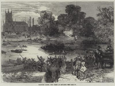 Hampton Races, the Ferry at Moulsey--Giclee Print