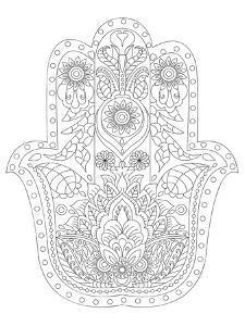 Hamsa Coloring Art