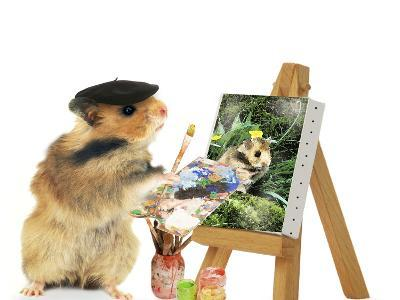 Hamster Painting--Photographic Print