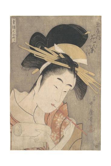 Hanamurasaki of the Tamaya, c.1790-Kitagawa Utamaro-Giclee Print