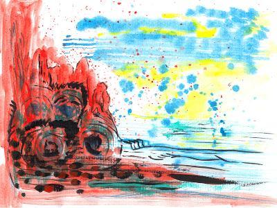 Hand Draw Abstract Paint-jim80-Art Print