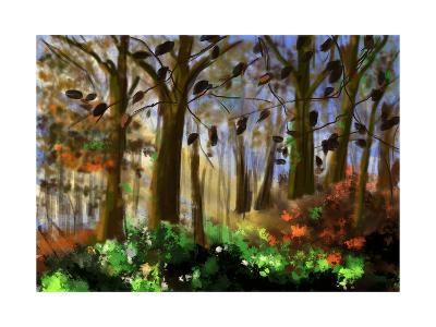 Hand Draw Forest-jim80-Art Print