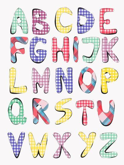 Hand Drawn Alphabet-vesnacvorovic-Art Print