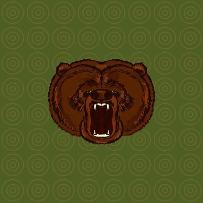 Hand Drawn Bear- anastaciaigel-Art Print