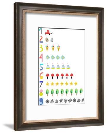 Hand Drawn Numbers-Elena David-Framed Art Print