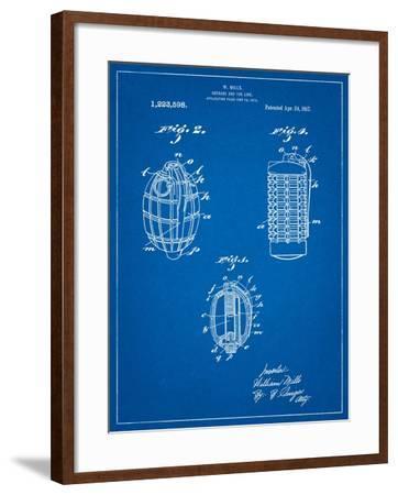 Hand Grenade 1915 Patent-Cole Borders-Framed Art Print