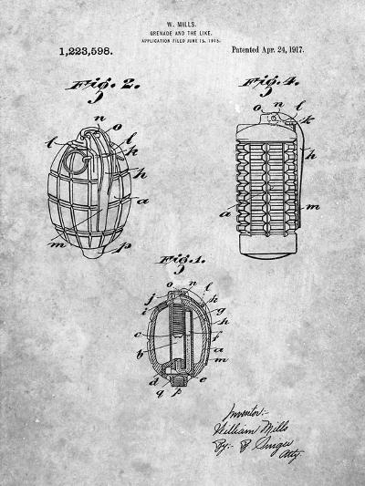 Hand Grenade 1915 Patent-Cole Borders-Art Print