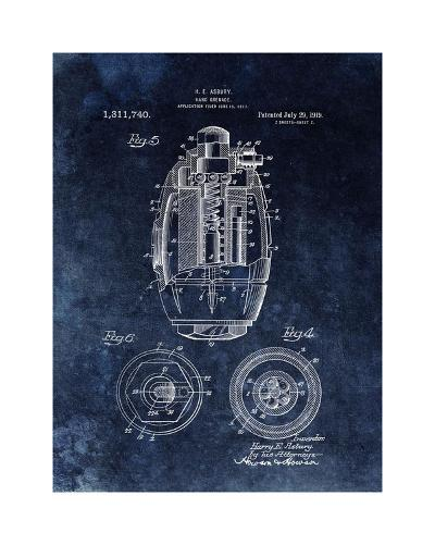 Hand Grenade, 1919- Black-Dan Sproul-Giclee Print