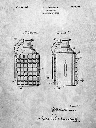 Hand Grenade Patent-Cole Borders-Art Print