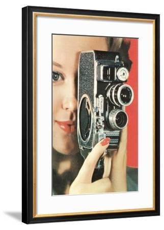 Hand-Held Home Movie Camera--Framed Art Print