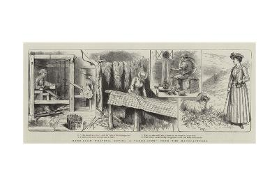 Hand-Loom Weaving, Buying a Home-Spun from the Manufacturer--Giclee Print