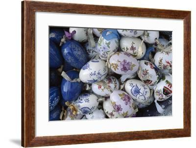 Hand-Painted Ceramic Egg Charms, Varhegy Hill, Budapest, Hungary--Framed Giclee Print