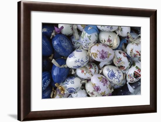 Hand-Painted Ceramic Egg Charms, Varhegy Hill, Budapest, Hungary--Framed Giclee Print