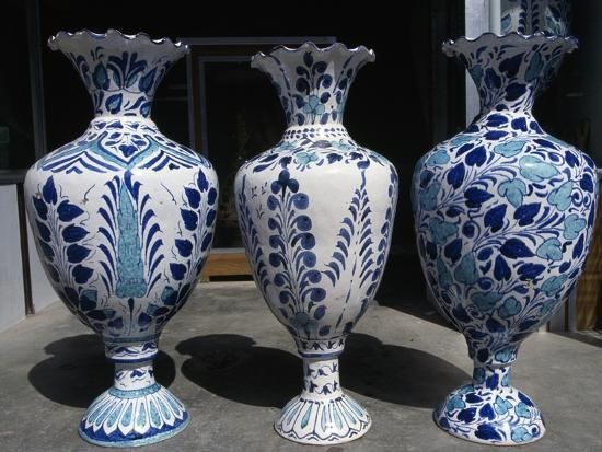 Handcrafted Ceramic Vases, Hyderabad, Pakistan Giclee Print by | Art com